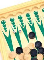 """Нарды средние """"Чертики зеленые"""", цвет: рисунок зеленый, арт. 026-10"""