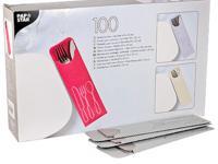 """Куверт (конверт) для столовых приборов, с салфеткой """"Papstar"""", 235х72 мм, 100 штук, цвет: серый"""