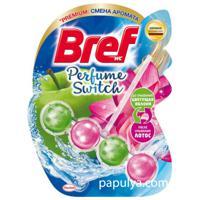 """Чистящий блок для туалета """"Bref (Бреф). Perfume Switch. Яблоня и лотос"""", 2 штуки"""