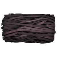 Эластичная отделочная глянцевая лента, 8 мм x 50 м, цвет темный шоколад (арт. STP/32)