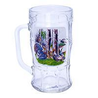 Кружка для пива, декор Охота/Рыбалка, дизайн 2, 500 мл