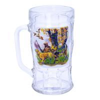 Кружка для пива, декор Охота/Рыбалка, дизайн 3, 500 мл