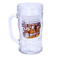 Кружка для пива, декор Охота/Рыбалка, дизайн 4, 500 мл