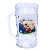 Кружка для пива, декор Охота/Рыбалка, дизайн 5, 500 мл