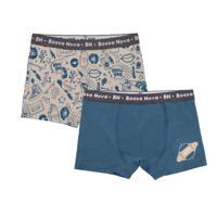 """Трусы-боксеры для мальчика Bossa Nova """"Toys"""", цвет: бежевый, морская волна, размер 34, рост 122-128 см (2 штуки)"""
