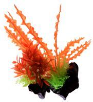 """Пластиковое растение для аквариума """"Homefish"""", с грузом, 18 см"""