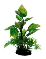 """Пластиковое растение для аквариума """"Homefish"""", с грузом, 13 см"""