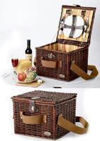 Корзинка плетеная для пикника с набором столовых принадлежностей на 2 персоны, арт. 19180
