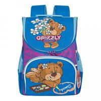 Рюкзак школьный с мешком для обуви, цвет фиолетовый, лазурный (арт. RAm-084-6/1)