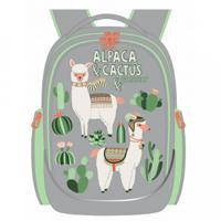Рюкзак школьный, цвет светло-серый (арт. RG-067-1/1)
