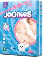 """Подгузники """"Joonies Premium Soft"""", размер S (3-7 кг), 72 штуки"""