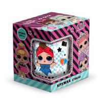 """Кружка стеклянная """"L.O.L. Surprise! Dollsaregogo"""", 230 мл (в подарочной упаковке)"""
