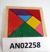 """Головоломка на память """"Танграм-3"""", 10 см (7 цветов)"""