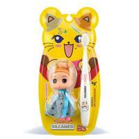 """Детская зубная щетка в наборе с игрушкой """"Серебро"""", мягкая, с 3 лет"""