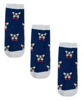 Носки для мальчика Coccodrillo, размер 026, 3 пары, цвет: синий, арт. W19182263SET