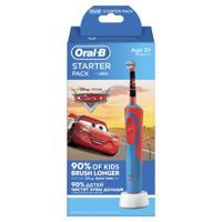 "Детская аккумуляторная электрическая зубная щетка ""Oral-B Kids Stages Power. Тачки. Starter Pack"""