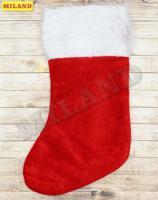 """Носок для подарков """"Новогодний"""", красный (пушистый)"""